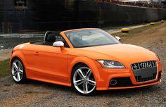Audi TTS Convertible Orange Color
