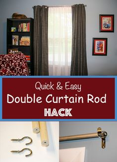 Double Curtain Rod Hack