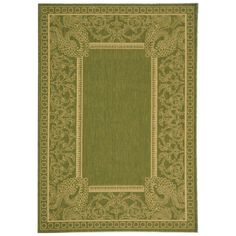 Courtyard Olive/Natural (Green/Natural) 5 ft. 3 in. x 7 ft. 7 in. Indoor/Outdoor Area Rug