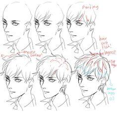draw the hair #tutorials #hair #anime