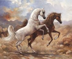 Desert horses - I believe this is by Mary Haggard