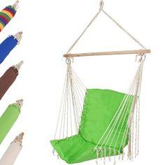 Jago - Cómoda silla colgante para relajación en color verde