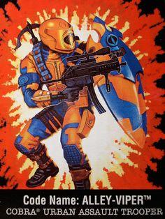 Alley Viper, this was the last gi joe I bought as a kid. Cartoon Clip, Cartoon Shows, Comic Books Art, Comic Art, Retro Toys, 90s Toys, Cobra Commander, Storm Shadow, Joe Cool