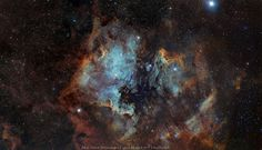 fromquarkstoquasars:Astronomy Photo of the Day: 3/22/15 — Wide-Field View of North America Nebula  To some, this celestial region resembles the continent of north America. To others, it merely looks like a star forming region—and a beautiful one at that. Formally called NGC 7000 (or Caldwell 20), it can be found approximately 1,600 light-years from Earth in the Cygnus constellation.  As colorful as it may be, its size might be its most incredible attribute, being that the entire complex…
