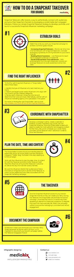 6 Steps to Launching an Effective Snapchat Takeover [Infographic] | Social Media Today