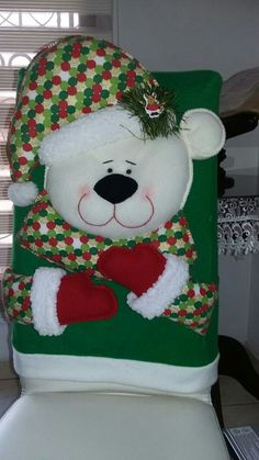 Com – SkillOfKing. Christmas Vases, Christmas Stockings, Xmas, Chair Covers, Patch, Teddy Bear, Holiday Decor, Crafts, Beautiful
