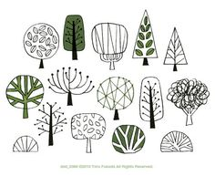 Love illustrated trees. One of my favourite things to draw.: