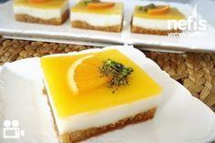 Portakallı Saray Lokumu - Nefis Yemek Tarifleri Beautiful Cakes, Granola, Ham, Panna Cotta, Cheesecake, Deserts, Food And Drink, Pudding, Favorite Recipes