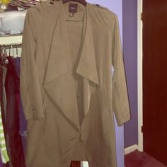 Suede outerwear jacket Worn twice. Great condition, no stains or tears. Forever 21 Jackets & Coats Trench Coats