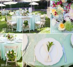 Mint shines at this brunch reception but yellow and fuchsia make an impression too! Phoenix Bride and Groom, Arizona wedding magazine, Hyatt Regency Scottsdale Resort and Spa, Hagerty Photography, Your Event Florist, Classic Party Rentals,  #wedding #receptionideas #brunch