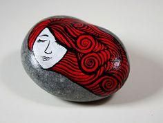 Art painted rock