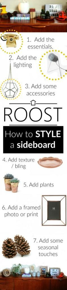 How to style a sideboard - tips and tricks for how to get the perfect sideboard display. Autumn Interior, Cosy Interior, Oval Brush Set, Wedding Moments, Sideboard, Display, Texture, Create, Tips