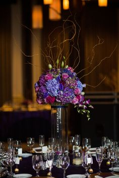 Tallahassee Wedding | Shannon Reeves Events | Woodland Fields Photography | Purple | Navy