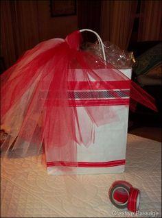 Washi tape gift bag