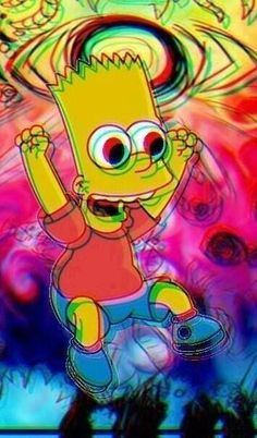 21 Ideas For Wallpaper Iphone Trippy Simpsons Simpson Wallpaper Iphone, Trippy Wallpaper, Acid Wallpaper, Screen Wallpaper, Wallpaper Backgrounds, Arte Dope, Dope Art, Psychedelic Art, Trippy Pictures
