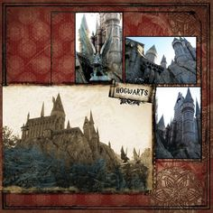Wizarding World of Harry Potter (Orlando) - Page 4 Vacation Scrapbook, Disney Scrapbook Pages, Scrapbook Journal, Scrapbooking Layouts, Harry Potter Planner, Harry Potter Scrapbook, Universal Orlando, Universal Studios, Colouring Pics