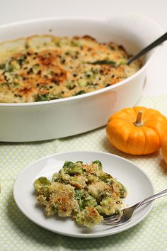 Brussels Sprout & Leek Gratin with Rosemary Recipe - Barbara Cooks