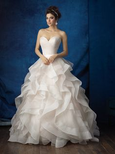 Layers of ruffles make the airiest, most delicate ballgowns // Allure Bridals 9375