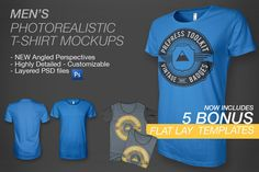 Men's Ghosted T-Shirt Mockups by PrePress Toolkit on @creativemarket