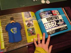This is my personal running book from 2014... To hold all my bibs and memories!