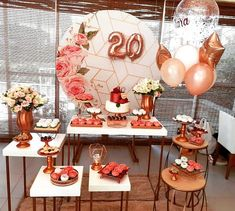 Learn the best Ideas to decorate a Party for a 20 year old woman through proposals: You deserve what you Dream, so do not hesitate to celebrate the best Giant Number Balloons, Helium Balloons, Balloon Arch, The Balloon, Old Women, Young Women, Birthday Decorations, Table Decorations, Neon Party