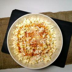 Paprika Parmesan Popcorn (paprika, parmesan cheese, olive oil, salt) / The Unprepared Kitchen Menu Planning   http://theunpreparedkitchen.com