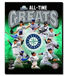 Seattle Mariners All Time Great players Canvas Framed Over With 2 Inches Stretcher Bars-Ready To Hang- Awesome & Beautiful