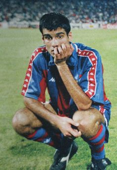 18 May 1994 Josep 'Pep' Guardiola and Dream Team's big night turns into a nightmare as nobody gave AC Milan a chance against the free-flowing FC Barcelona.  AC Milan ( 4:0 ) FC Barcelona  1994 UEFA Champions League Final, Athens Olympic Stadium, Greece