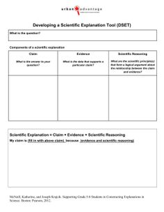 Claim Evidence Reasoning Template   Claims Evidence