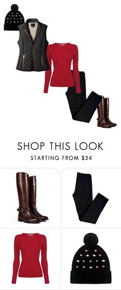 """""""Puffer vest outfit"""" by styleskater7 ❤ liked on Polyvore featuring Burberry, J Brand, Oasis, Markus Lupfer and LE3NO"""