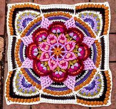 Transcendent Crochet a Solid Granny Square Ideas. Inconceivable Crochet a Solid Granny Square Ideas. Crochet Mandala Pattern, Crochet Blocks, Granny Square Crochet Pattern, Crochet Stitches Patterns, Crochet Squares, Crochet Doilies, Granny Squares, Crochet Granny, Crochet Designs