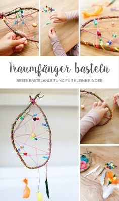 Tinker dream catchers quickly and easily with small children. Here is the ultimate guide! # dream catcher crafts Tinker dream catchers quickly and easily with small children. Here is the ultimate guide! Dream Catcher Craft, Dream Catcher Mobile, Large Dream Catcher, Dream Catcher Boho, Kids Crafts, Diy And Crafts, Dreamcatchers, Fun Craft, Feather Painting