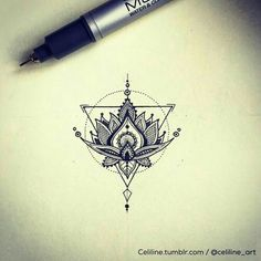 Tattoo design and idea, geometric, illustration, zentangle, doodle . Tattoo design and idea geometric illustration zentangle doodle - # Trendy Tattoos, Cute Tattoos, Beautiful Tattoos, Body Art Tattoos, New Tattoos, Tattoos For Women, Tatoos, Yoga Tattoos, Script Tattoos