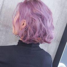 Instagram photo by SHACHU • Apr 12, at 10:16am UTC #coloredhair #girls #purple #hair #color #followback #F4F #L4L