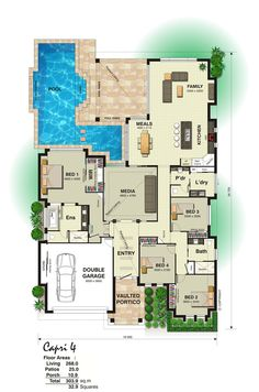 floorplan-lrg.jpg (800×1209) ~ I'd have this pool as an indoor rather than an outdoor