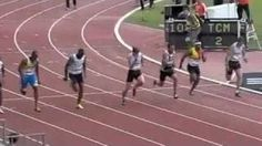 Christophe Lemaitre 9.98 First White Man To Run Sub 10 Seconds, via YouTube.