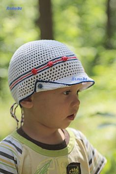 Шляпка крючком с ушками. Новая модель | razpetelka.ru