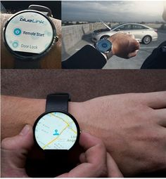 Hyundai's cloud-based Blue Link platform allows features like remote start and service information to be quickly accessed through devices like smartwatches and smartphones.