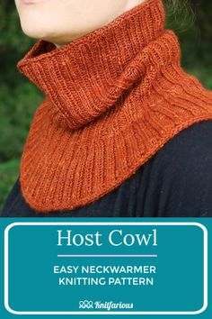 Practice your i cord knitting with this free cowl pattern. Knit in the round with your favorite DK weight yarn. Easy Scarf Knitting Patterns, Infinity Scarf Knitting Pattern, Easy Knitting Projects, Knitting Stitches, Free Knitting, Knit Cowl, Knitting Ideas, Simple Knitting, Crochet Cowls