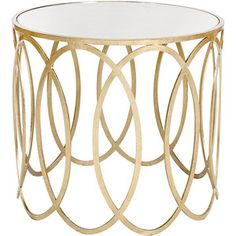 Worlds Away Olivia Silver Oval Side Table