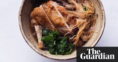 Umami flavours, crunchy kale and soft noodles combine to make a satisfying supper in a bowl. By Nigel Slater