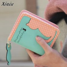 Bolsas 2017 Money Clip Fashion Women Cat Purse Short Wallet Bags PU Travels Business Green Men Wallets Carteira feminina. Yesterday's price: US $7.62 (6.60 EUR). Today's price: US $5.87 (5.11 EUR). Discount: 23%.