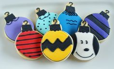 Charlie Brown Christmas ornament cookies! Who wants to make these for me? Please?