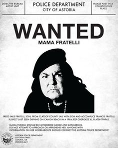 Goonies-Mama-Fratelli-Wanted-Poster-Flyer-Poster-Prop-Replica