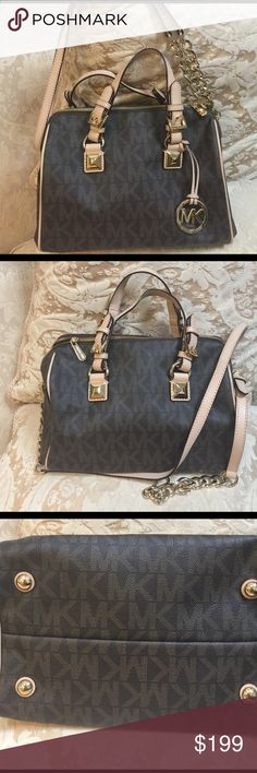 b3fd7fcac72fae ... Michael Kors Collection - Josie Large Suede And Leather Tote - Mushroom  Luxury Handbags Pinterest Michael