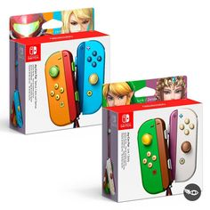 (Zero suit)samus, link and zelda joy-con Super Smash Bros, Super Mario Bros, Carte Pokemon Rare, Geek Mode, Playstation, Zero Suit Samus, Custom Consoles, Nintendo Switch Accessories, Nintendo Switch Games