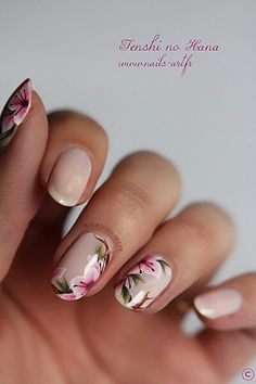 This Awesome Floral Nails Design Ideas 28 image is part from 30 Best Inspirations Floral Nail Art Design gallery and article, click read it bellow to see high resolutions quality image and another awesome image ideas. Fancy Nails, Cute Nails, Pretty Nails, Fabulous Nails, Gorgeous Nails, Nagellack Design, Floral Nail Art, Manicure E Pedicure, Manicure Ideas