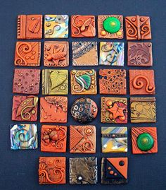 Fall polymer clay Inchies by MandarinMoon, via Flickr