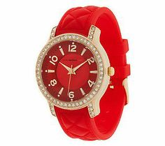 Be fashionably great (& right on time!) with this watch from Isaac Mizrahi