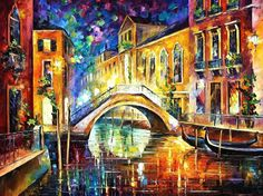 Night is Venice By Leonid Afremov